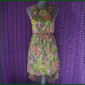 Everly Floral Dress Size S High Low